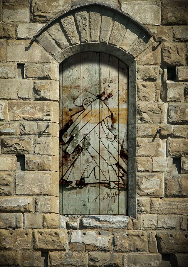 Engel-verschlossen-Tür-web